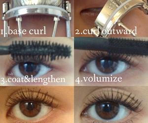 beauty, makeup, and mascara image