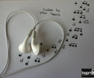 heart, listen, and music image