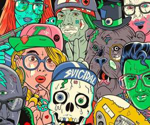 hipster, art, and zombie image