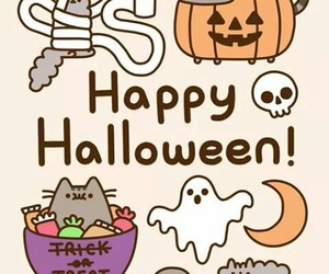 Halloween, cat, and pusheen image