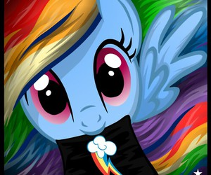 my little pony, rainbow dash, and cuttie mark image
