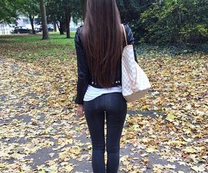 black, fall, and hair image