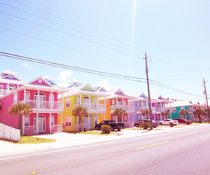 house, colorful, and pink image