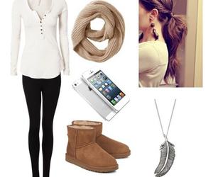 outfit, boots, and hair image