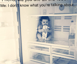 baby, food, and funny image