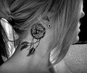 ink, piercing, and tat image