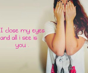 eyes, girl, and quote image