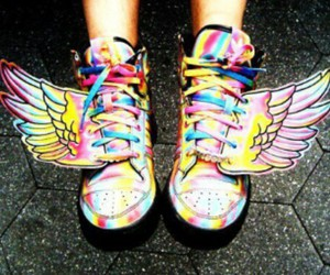 shoes, swag, and wings image