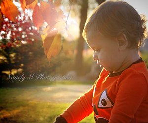 baby, beauty, and fall image