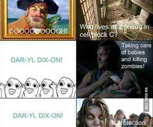 the walking dead, daryl dixon, and funny image