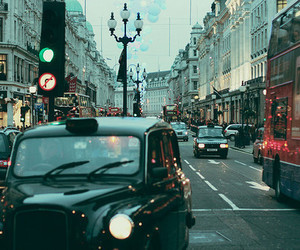 london, car, and city image