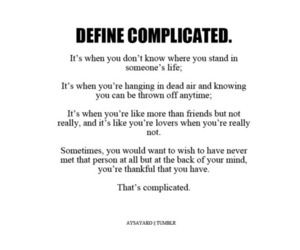 complicated, fool, and hurt image