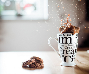 Cookies, chocolate, and coffee image