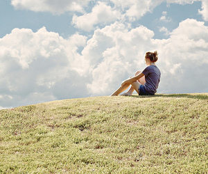 girl, photography, and hill image