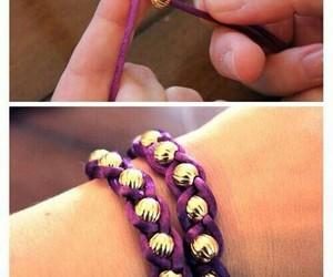 bracelet, tutorial, and diy image