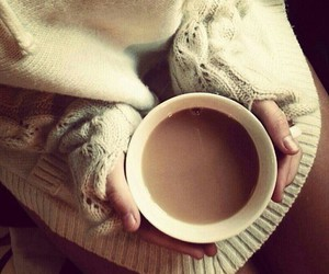 coffee, sweater, and winter image
