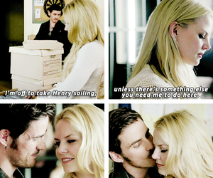 once upon a time, captain swan, and fandom image