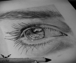 art, eye, and eyebrows image