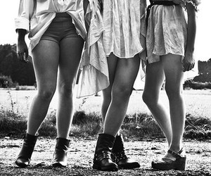black and white, models, and shoes image