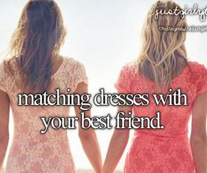 dress, best friends, and just girly things image