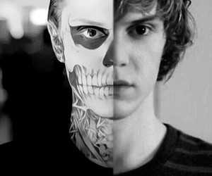 tate, psychopath, and evan peters image