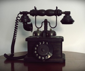 antique, telephone, and love image