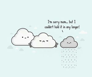 Funny Clouds And Rain Image