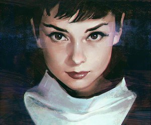 audrey hepburn and art image