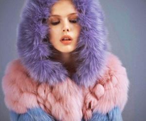 fashion, model, and fur image