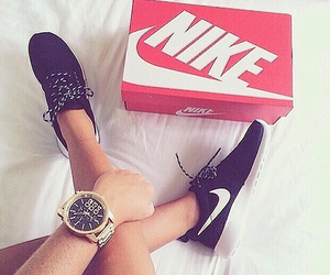 autumn, shoes, and watch image