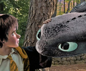 harry potter, toothless, and hufflepuff image