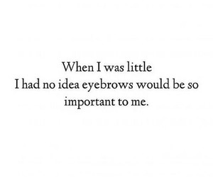 eyebrows and quote image