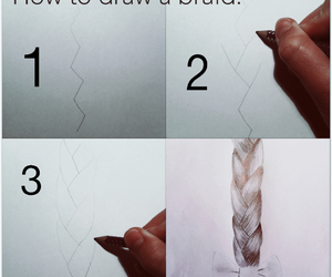 art, braid, and diy image