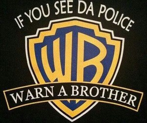 police, funny, and wb image