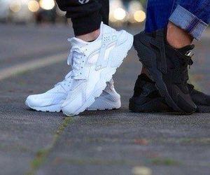 shoes, huarache, and black image