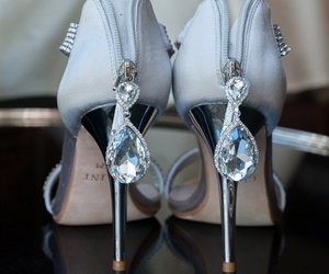 fashion, diamonds, and heels image
