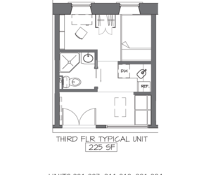 floorplan, studio, and microapartment image