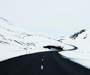 adventure, black and white, and ice image