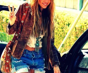 miley cyrus, hair, and peace image