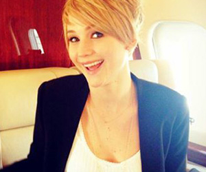 Jennifer Lawrence, the hunger games, and short hair image
