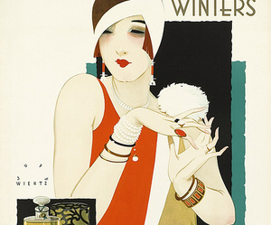 1920s, art deco, and illustration image