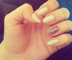 almonds, long nails, and diy image