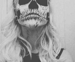 Halloween, make up, and skull image