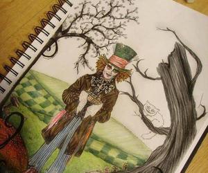 wonderland, drawing, and alice image