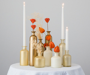 autumn, bottle, and candle image