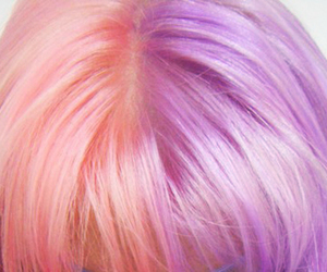 hair, pink, and blue hair image