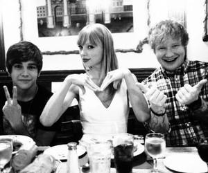 Taylor Swift, ed sheeran, and austin mahone image