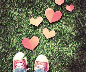 heart, hearts, and shoes image