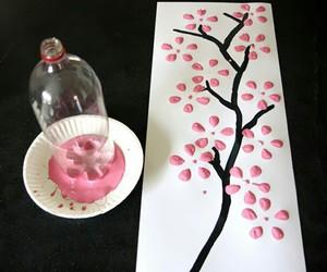 diy, pink, and tree image