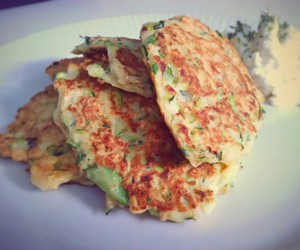 cottage cheese, lunch, and zucchini image
